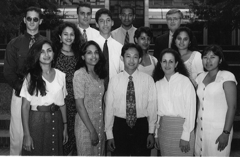 JHMP Class of 1999. Dr. Moorjani is on the middle row, far left.